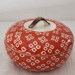 Vintage Signed Japanese Porcelain Trinket Box